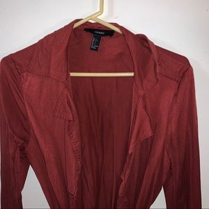 Forever 21 rust coat with pockets